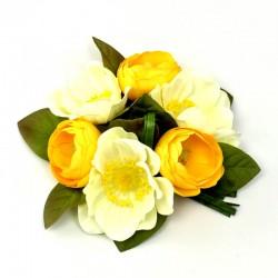 Ljusmanschett med gula anemoner