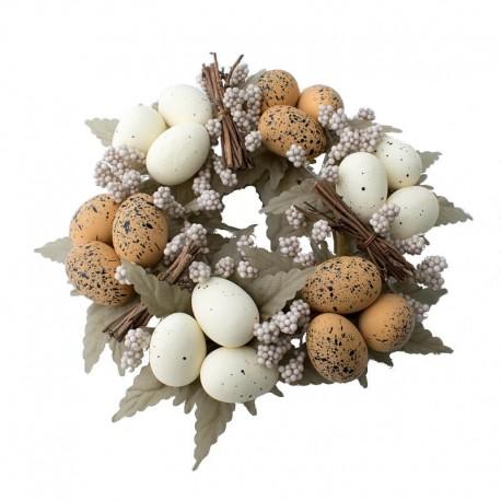 Ljusmanschett för blockljus med naturfärgade ägg
