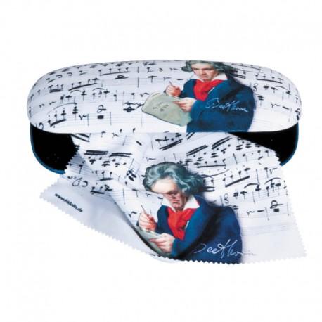 Glasögonetui med putsduk Beethoven