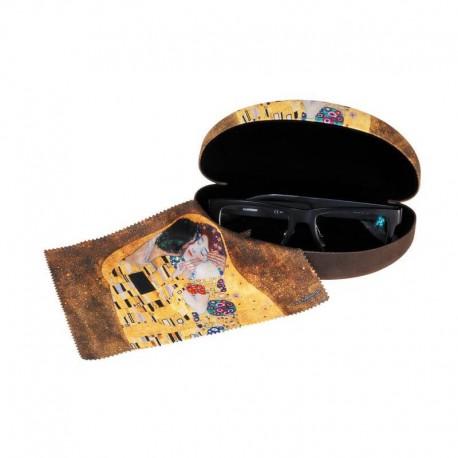 Stort glasögonetui med putsduk Kyssen