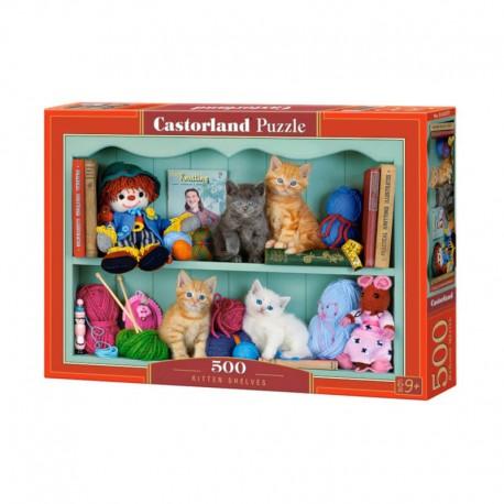 Pussel Kitten Shelves 500 bitar