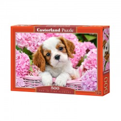 Pussel Pup in Pink Flowers 500 bitar