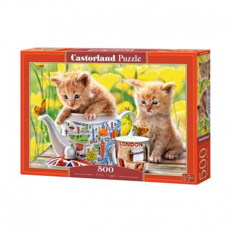 Pussel Tea Time (kittens), 500 bitar
