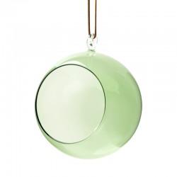 Dekarationsboll i glas 12 cm grön