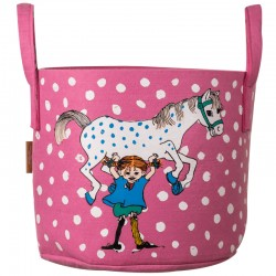 Pippi förvaringskorg Pippi och hästen, röd 30 liter