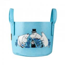 Pippi förvaringskorg Mumin bläbär, blå 17 liter