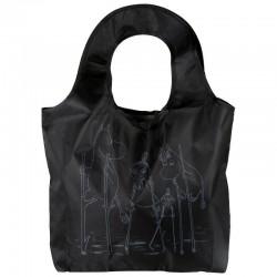 Shopping väska Mumin Kampsu flod svart